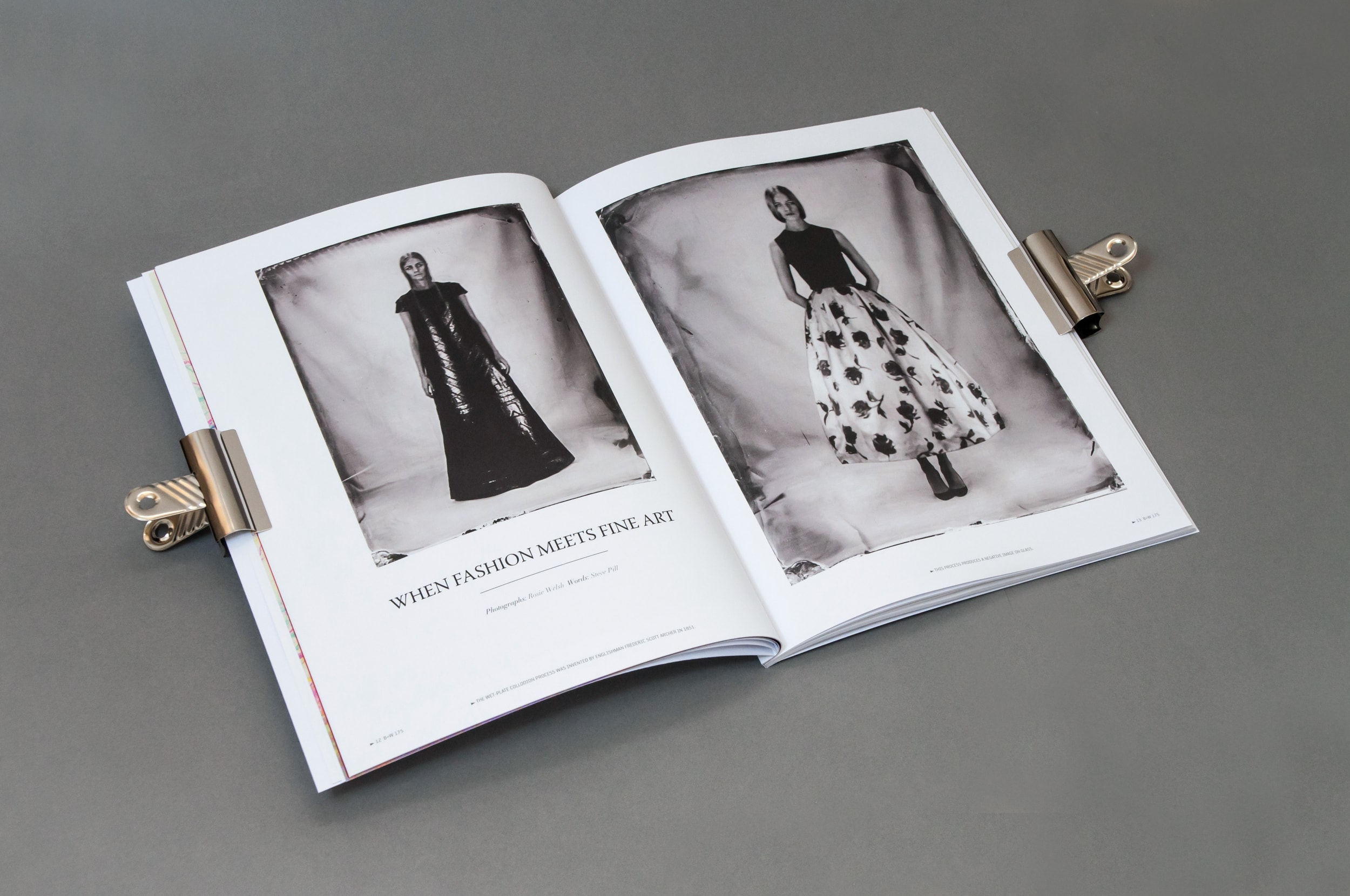 Black and White 175 Magazine Spread