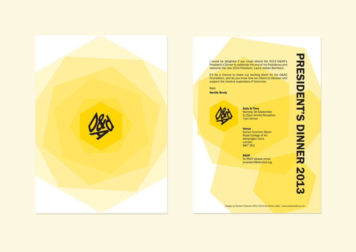 D&AD Invitation Design