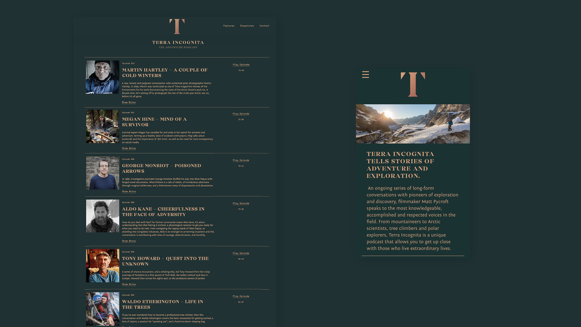 Terra Incognita website